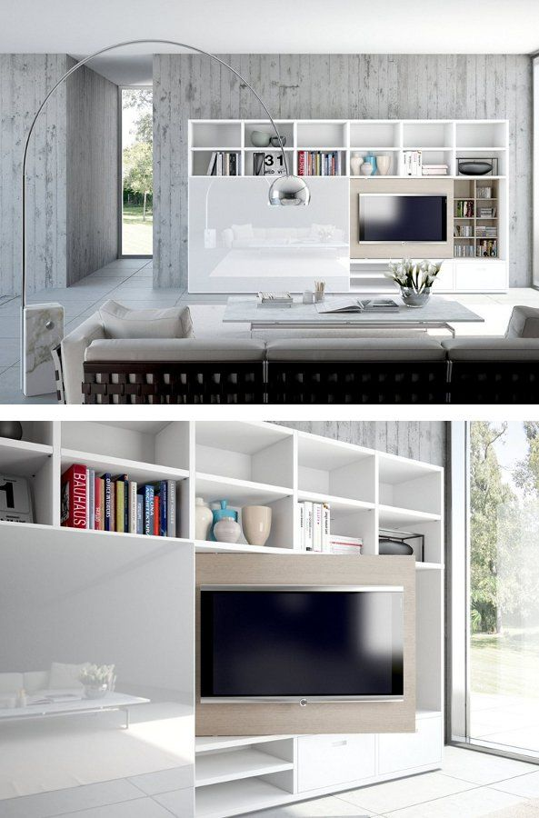 lacquered storage wall flexus by giellesse interiors. Black Bedroom Furniture Sets. Home Design Ideas