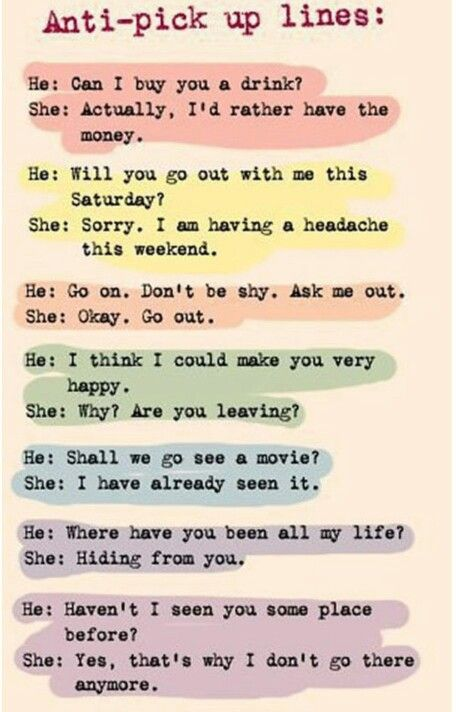 Funny mean pick up lines