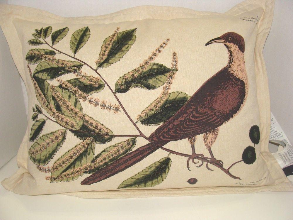 NEWPORT Luxury Luxe Bird Designer Throw Pillow MultiColor Feather Stunning Newport Decorative Pillows Feather Filled