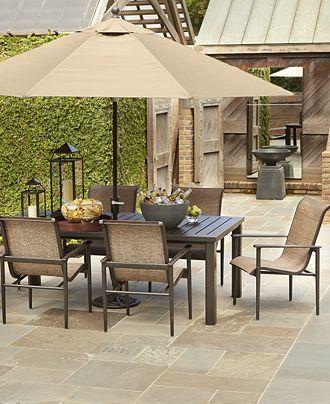 Garden Oasis Harrison 7 Piece Dining Set Outdoor Space