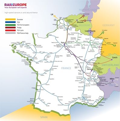 how to plan your trip through france on tgv map of franceeuropean countries train