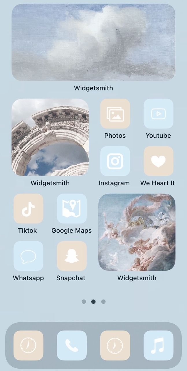iOS 14 layout inspo  discovered by 𝐍𝐨𝐫𝐚 on We Hear