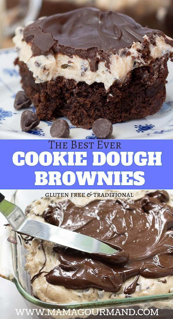 Cookie Dough Brownies If you are a chocolate chip cookie fan you will love Cookie Dough Brownies! T
