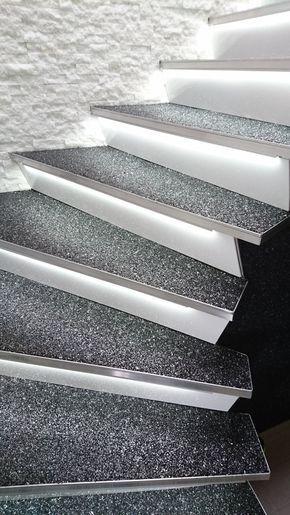 Steinteppich Selbst Verlegen Treppenbelag Teppich
