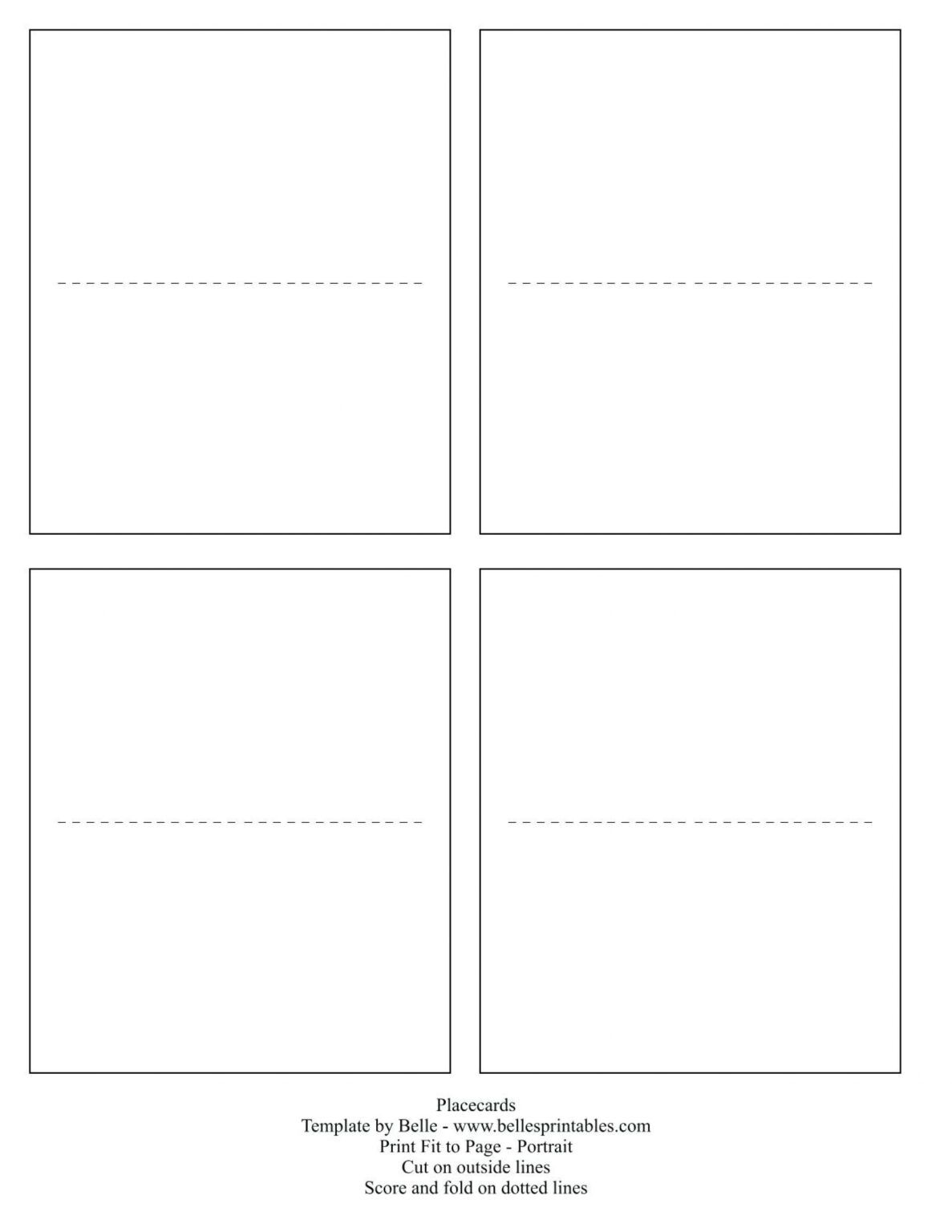 Unbelievable Free Printable Tent Cards Templates Template Intended For Blank Tent Car Printable Place Cards Templates Place Card Template Printable Place Cards
