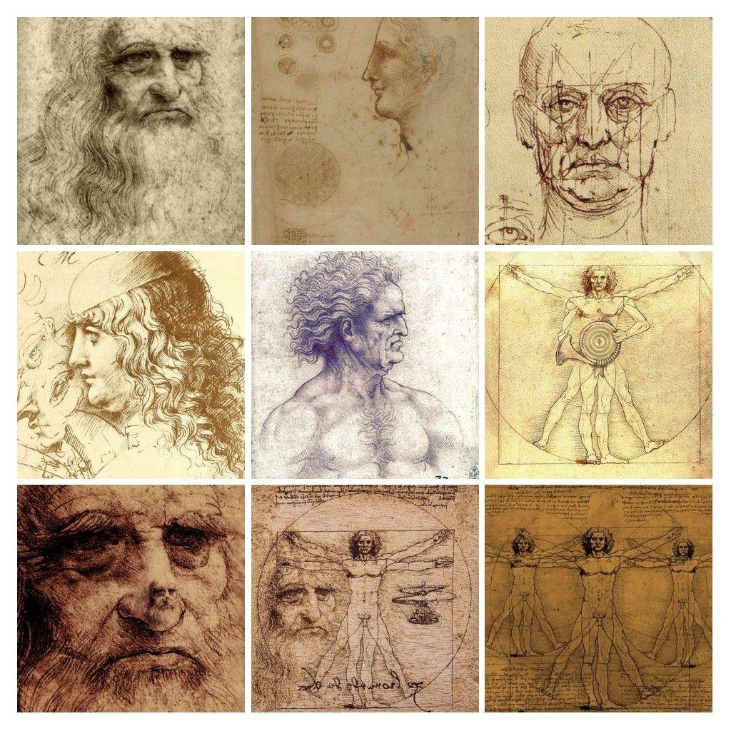 Leonardo da Vinci lavore papa Jhonny Kresba očí a Kresby
