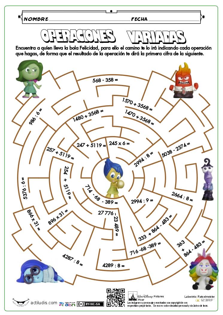 Ejercicios Variados 08   ejercicios de matematicas   Pinterest ...