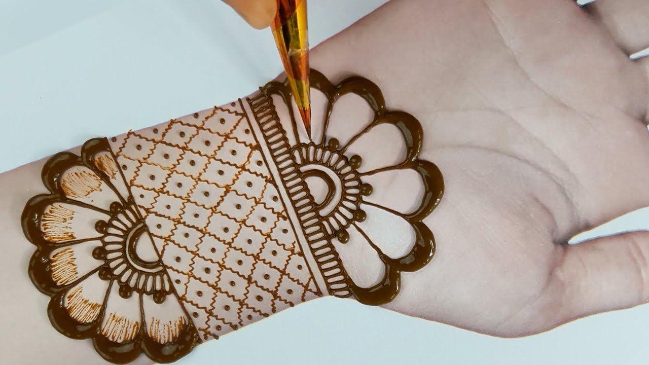 easy arabian mehndi design
