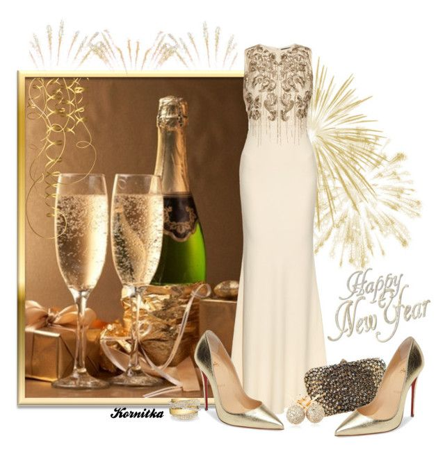 """""""nr 629 / New Year's Eve"""" by kornitka ❤ liked on Polyvore featuring Alexander McQueen, Valentino, Loushelou, Christian Louboutin and Shay"""