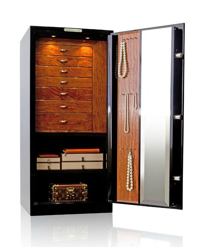 A beautiful custom jewelry safe by Brown Safe! You can design your own made  sc 1 st  Pinterest & The jewelry safe of my dreams   Brown Organizing jewelry and Storage