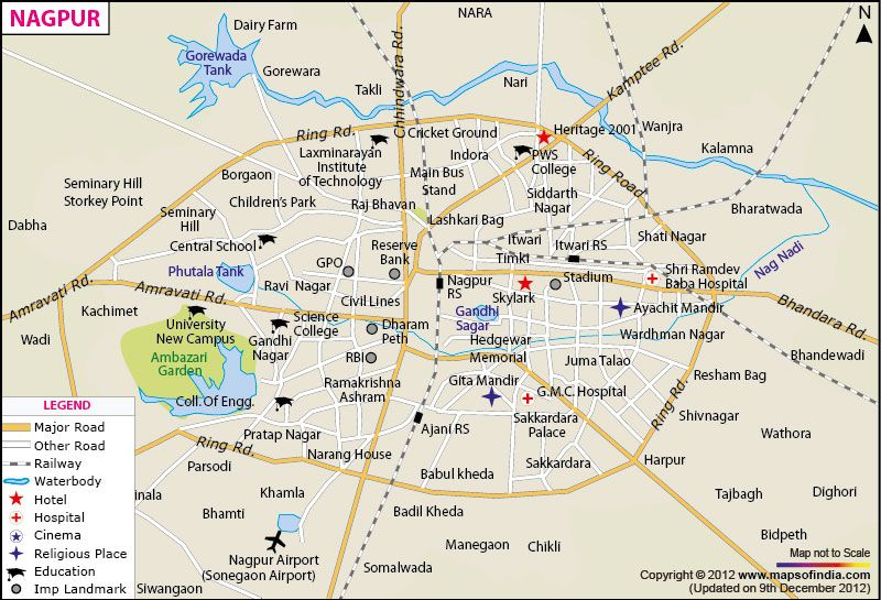 City Map of Nagpur City Maps of India Pinterest City