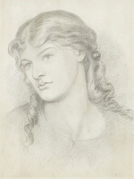 Portrait Of Alexa Wilding By Dante Gabriel Rossetti Pencil On