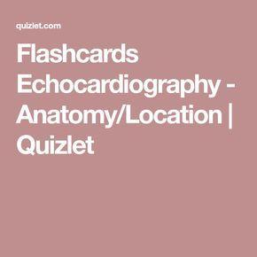 12+ Flashcards Echocardiography   Anatomy/Location