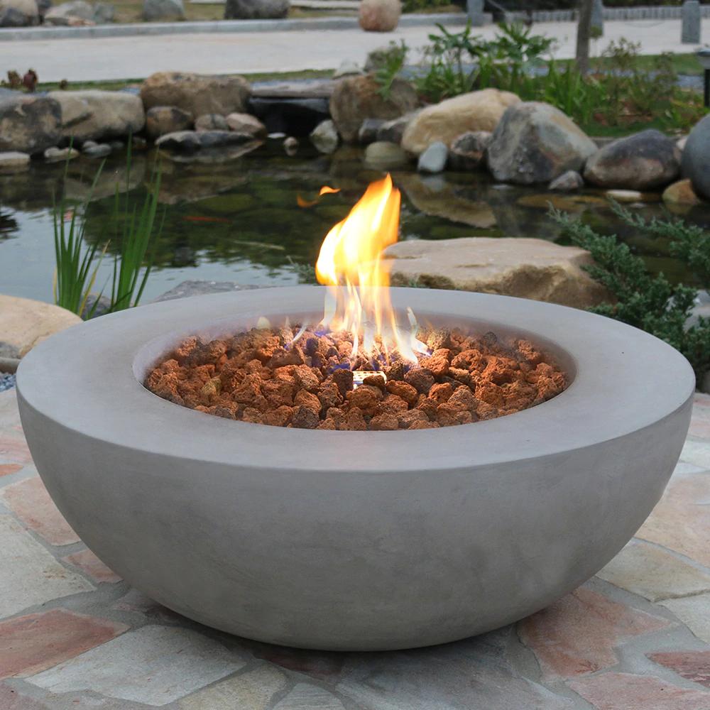 Elementi Lunar Bowl Fire Pit Fire Pit Wayfair Concrete Fire Pits Fire Pit Bowl