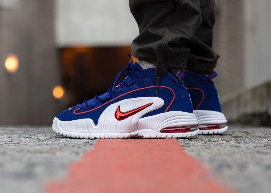 nike air max 1 penny hardaway blanche bleue rouge 685153 400