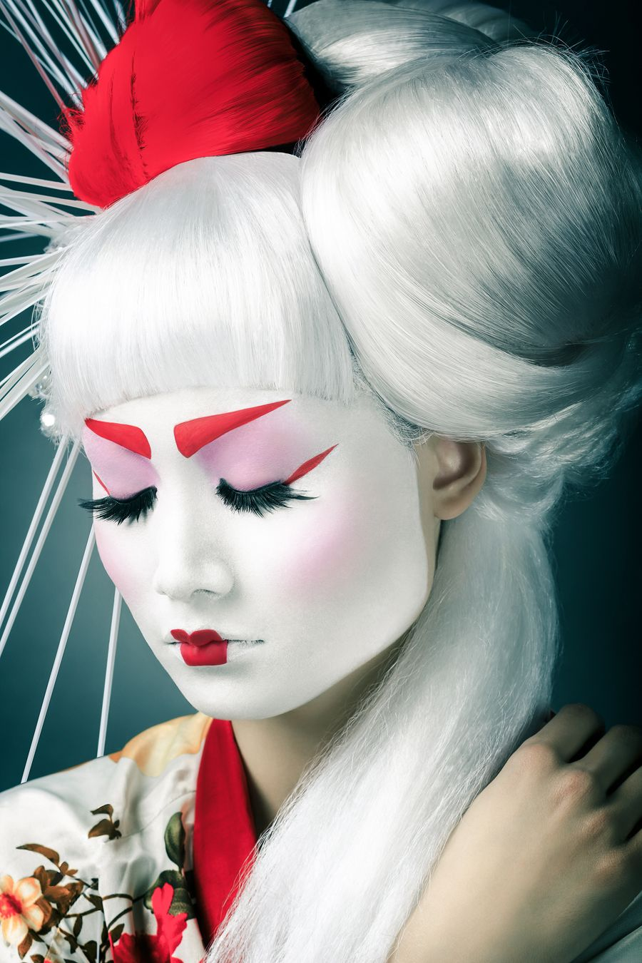 Daily Inspiration 1775 Geisha makeup, Photo retouching