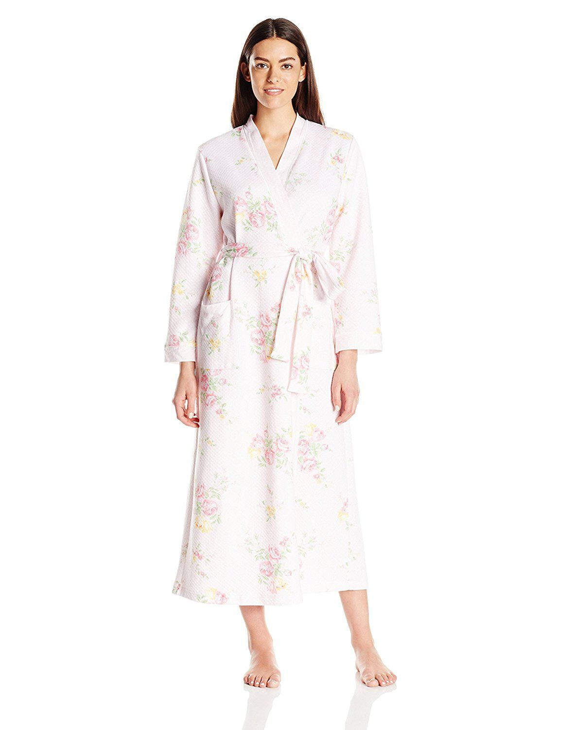 Carole Hochman Women\'s Floral Quilted Long Robe at Amazon Women\'s ...