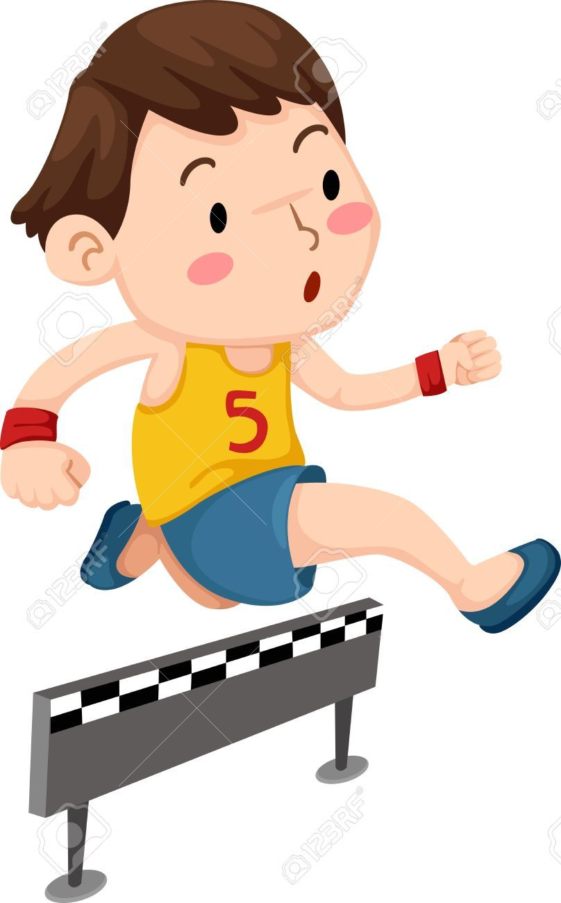 Image result for children jumping hurdles clipart