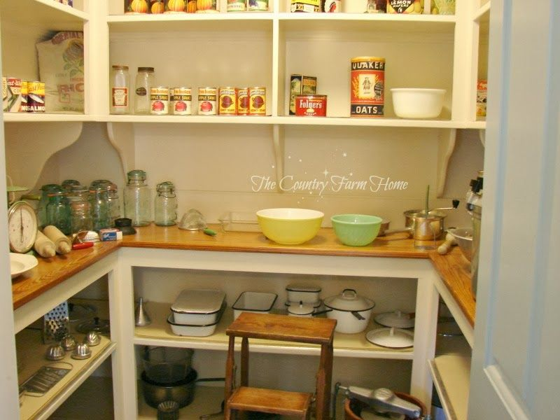 The Country Farm Home A Butler S Pantry And Kitchen At Bassett Hall