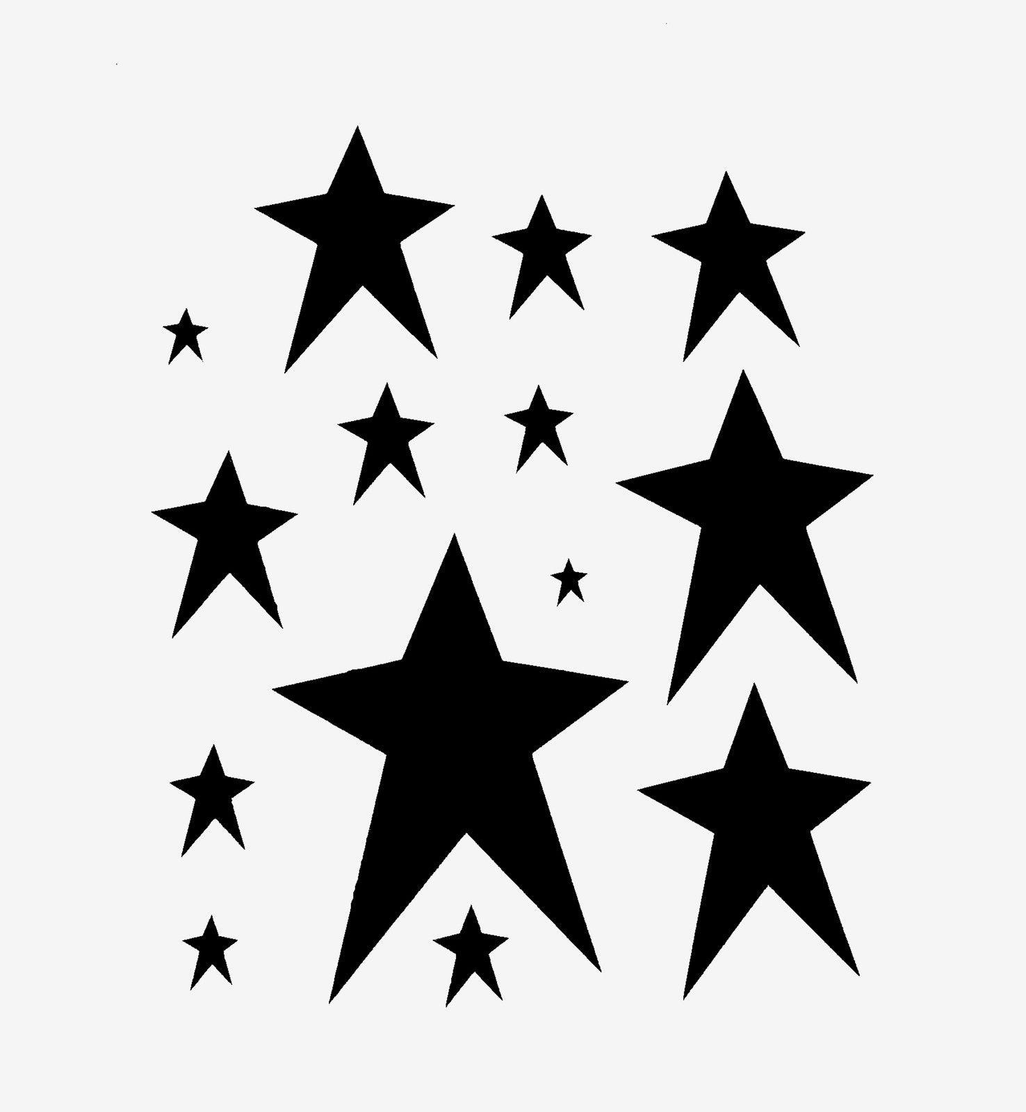 Primitive Star Stencil Many Stars Stencils Celestial Craft