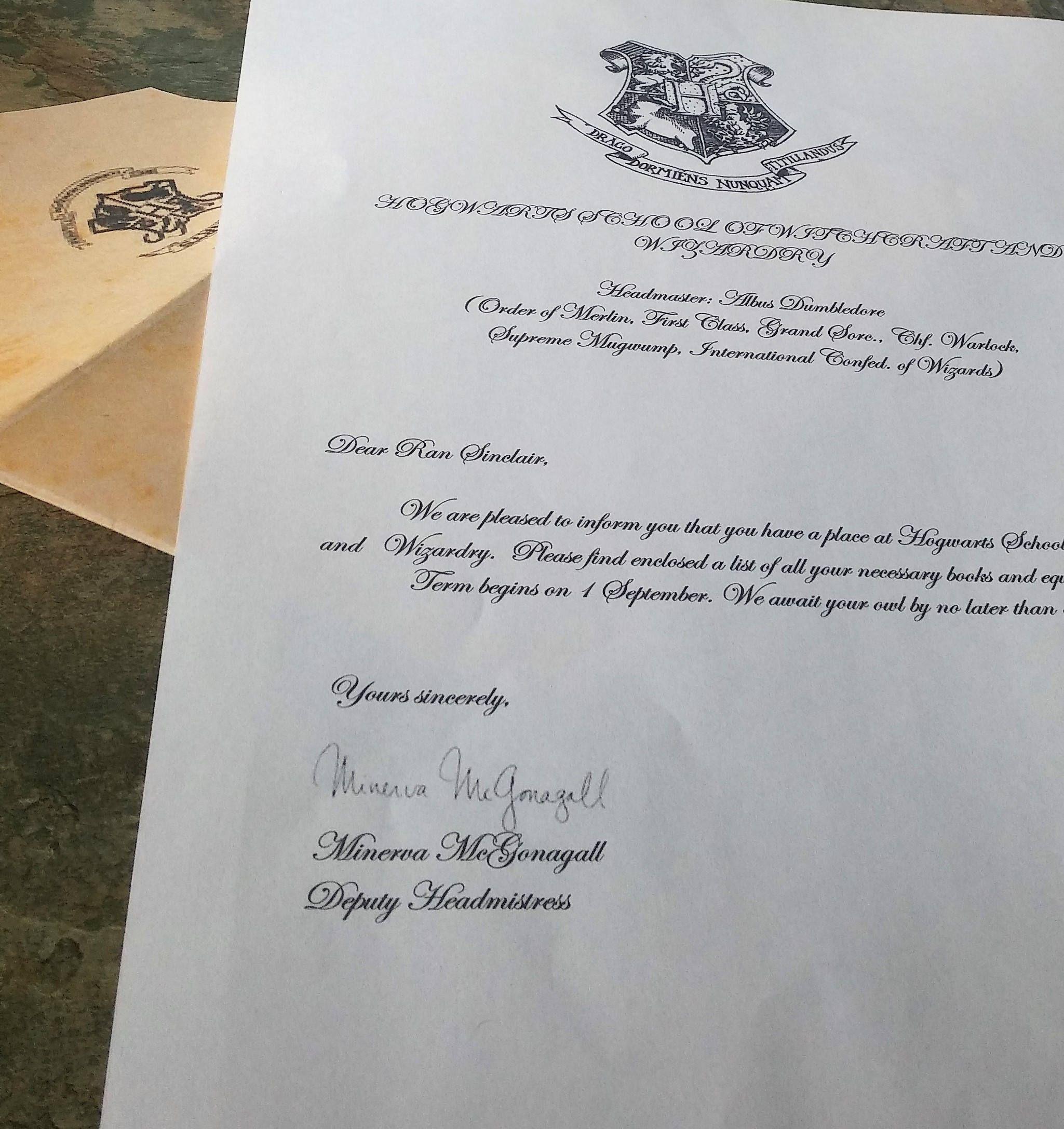 Hogwarts Acceptance Letter,Hogwarts Student ID, Witchcraft