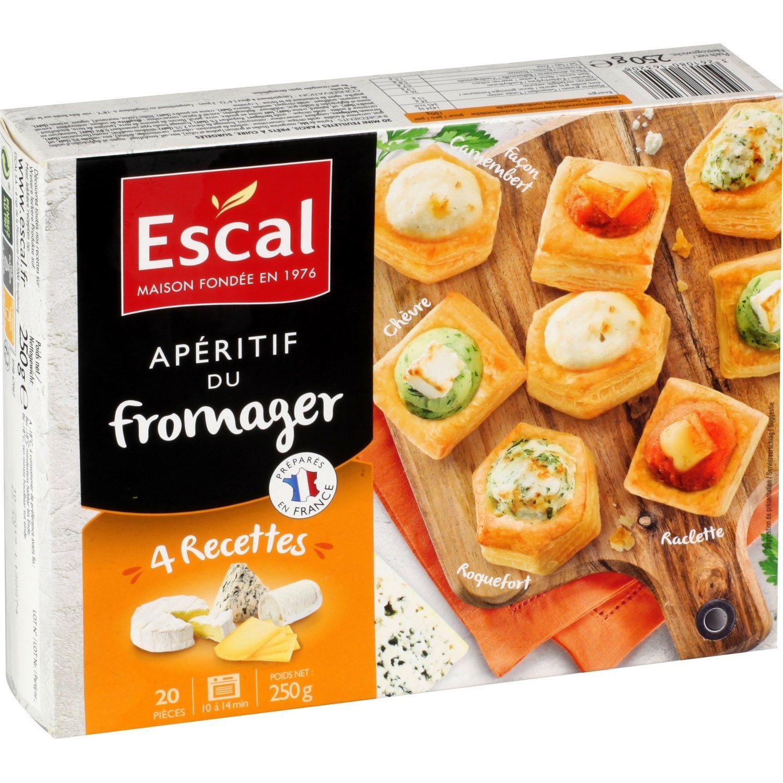 Feuilletés apéritif du fromager ESCAL : la boite de 20 - 250g  à Prix Carrefour #feuilletésapéritif