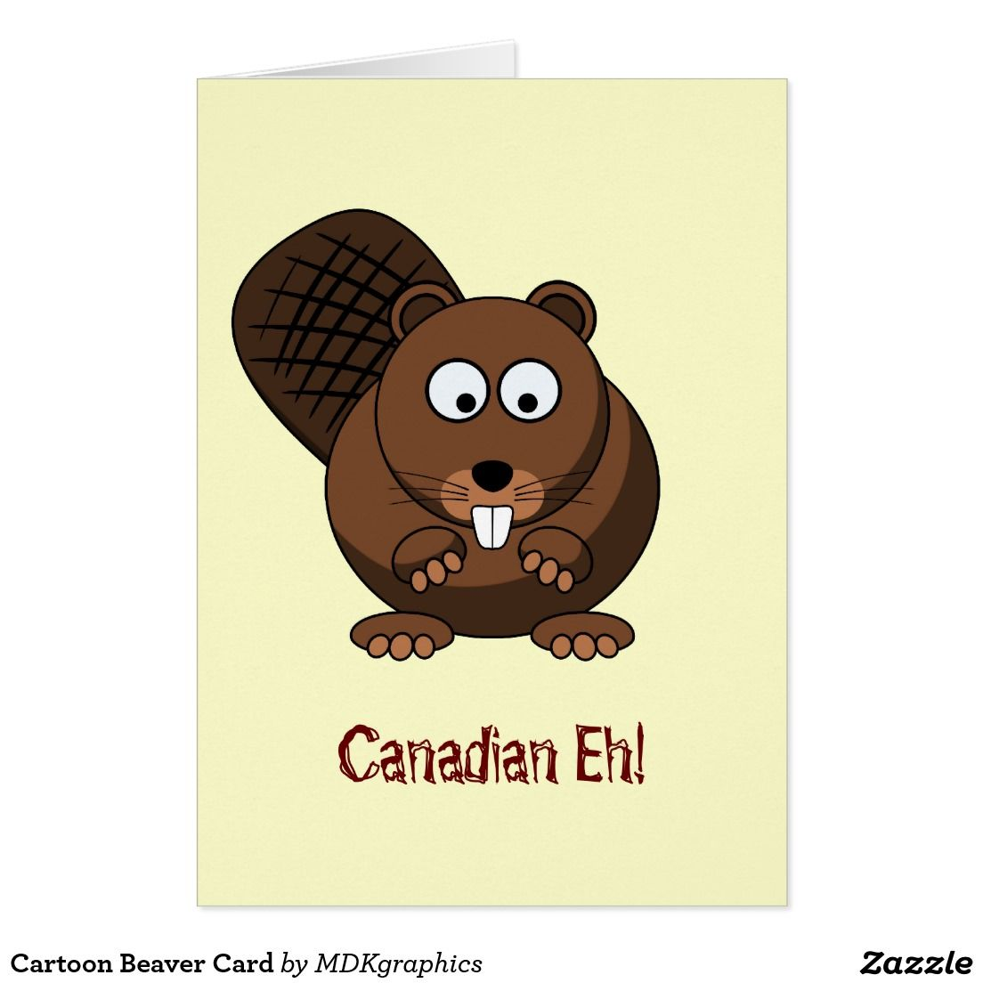 Cartoon beaver card graphic design projects
