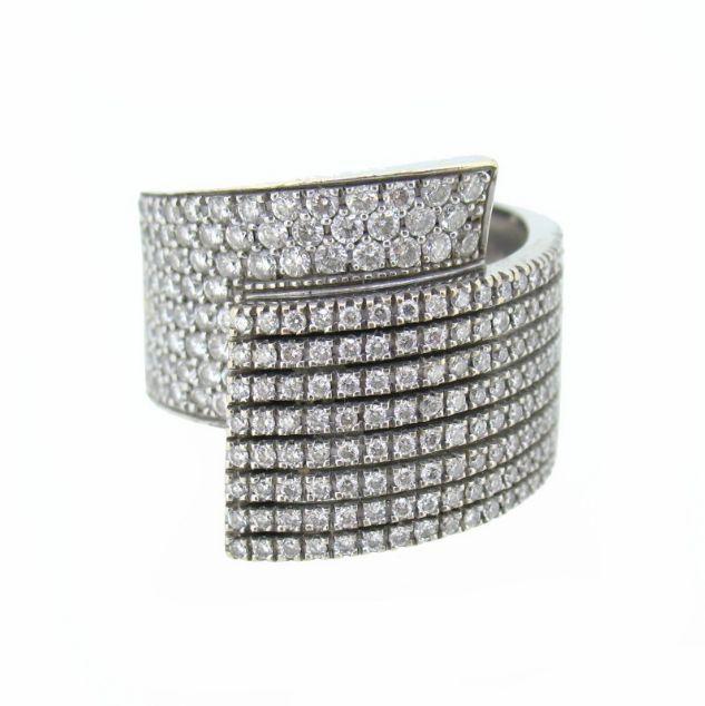 ee3aad5785a2  Anillo en  oro 18Kt pavé de  Diamantes corte  Brillante y certificado  Gemológico  rings  diamonds  gold  joyas  jewels  jewellery  shopping   fashion ...