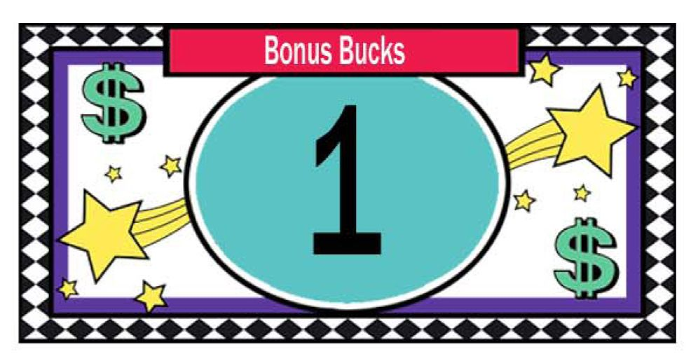 Great reward system for your kids bonus bucks classroom for Classroom bucks template