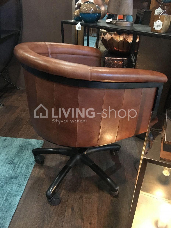 Cognac Leren Bureaustoel.Leder Cognac Bureaustoel Thibo J Line Online Webshop Living Shop