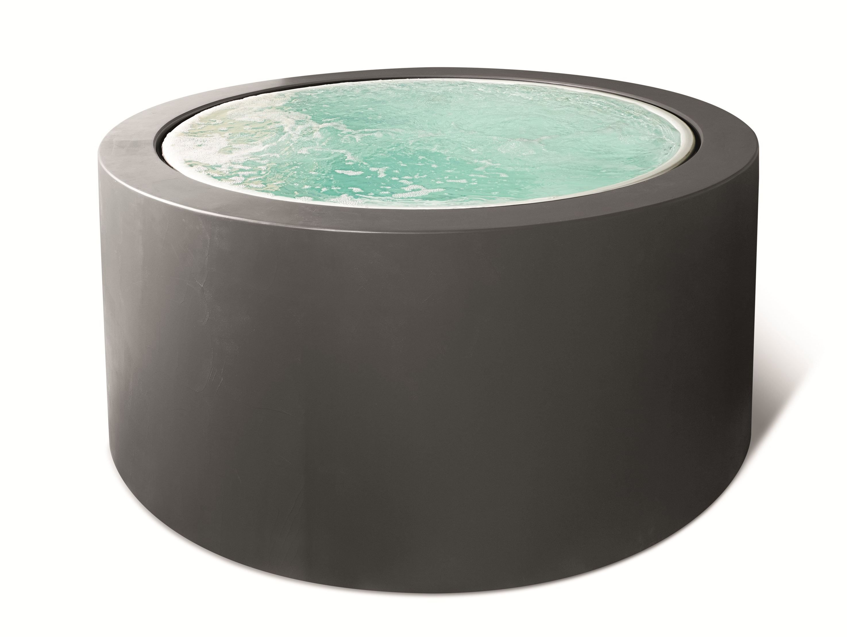 Whirlpool outdoor rund  Minipool by Kos free standing version slate gray finish | Holzhaus ...