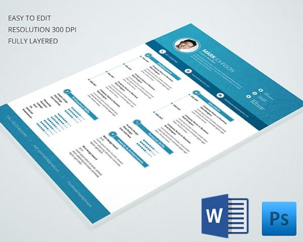 Project Manager Reume Template  Mac Resume Template  Great For