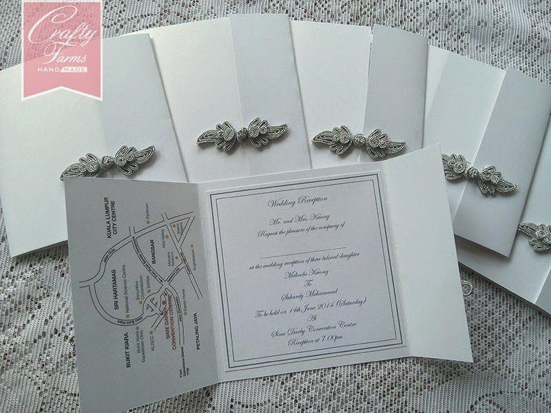 Simple and elegant Chinese Button wedding card | Handmade Wedding ...