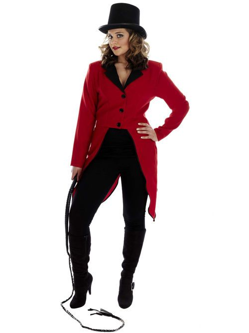 FANCY DRESS COSTUME CIRCUS RINGMASTER TAILCOAT