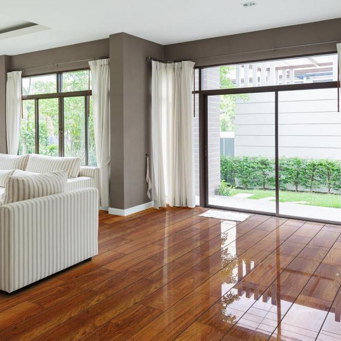 High Gloss 4v 8mm Plateau Merbau Laminate Flooring D2916 Wooden