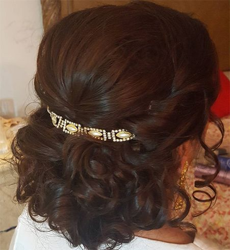 Fancy Clip Curly Bun Short Wedding Hair Simple Wedding Hairstyles Hairdos For Short Hair