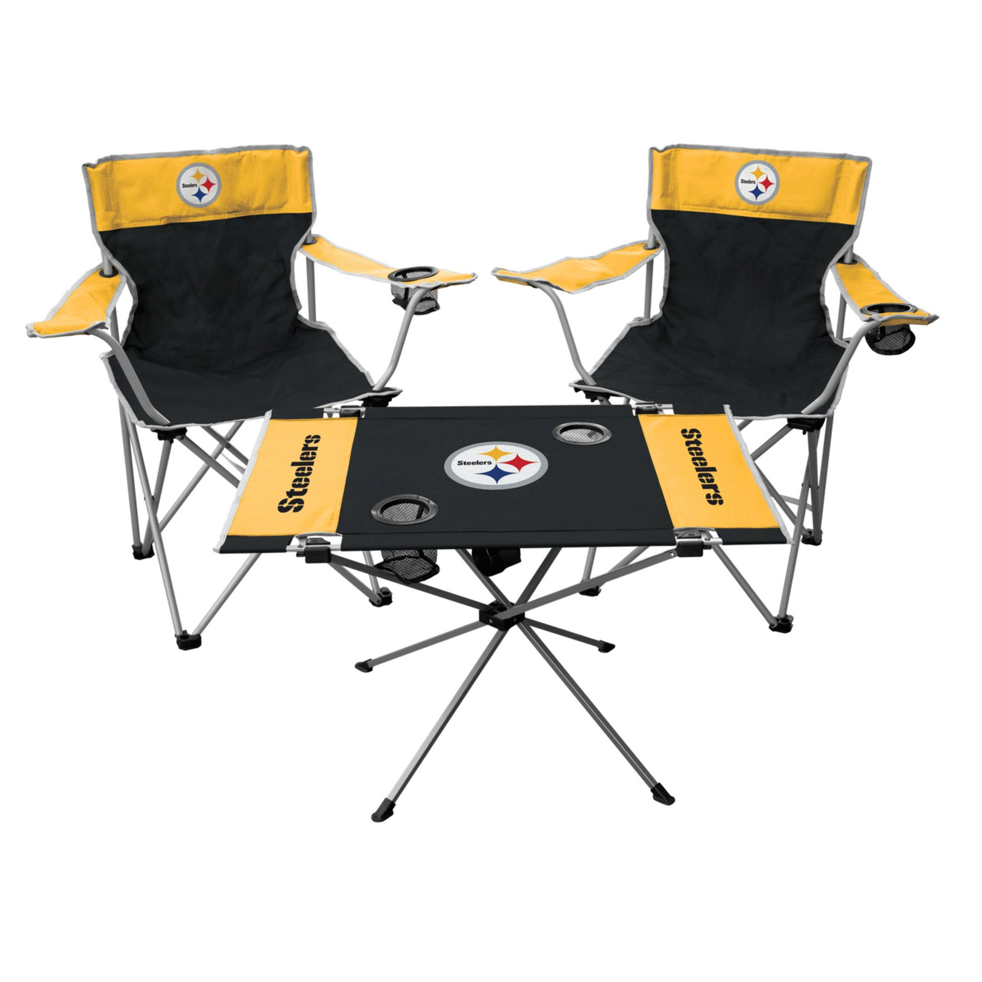 Delightful NFL Pittsburgh Steelers Rawlings Tailgate Kit   2 Chairs And Endzone Table