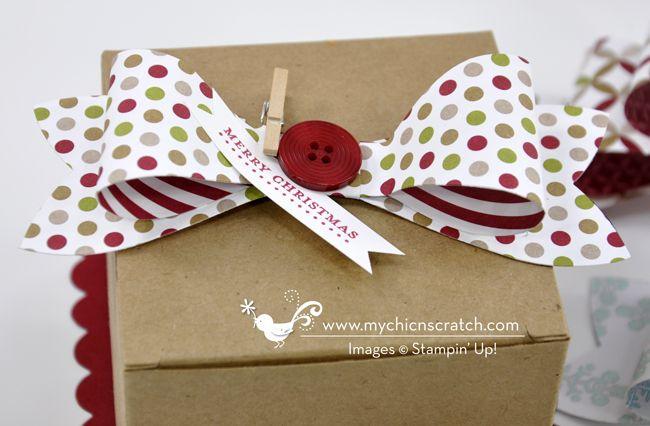 Gift Bow Box http://www.mychicnscratch.com/2013/08/gift-bow-box.html