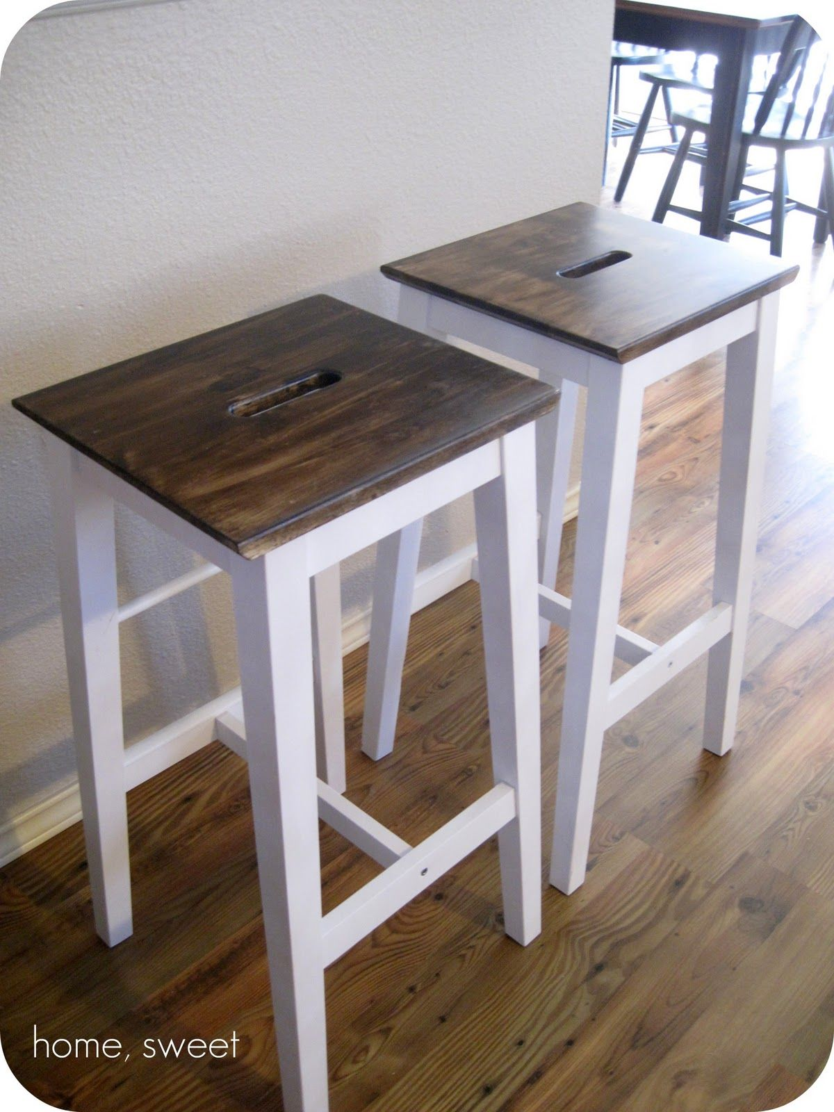 Home, Thrifty Home: Customized IKEA Barstools. Would Also Make A Nice Plant  Stand / Table