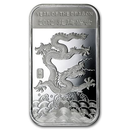 1 Oz Year Of The Dragon Silver Bar 999 Fine In Stock And Has Just Been Added To Http Www Finesilvercoins C With Images Buy Silver Coins Silver Dragon Year Of The Dragon