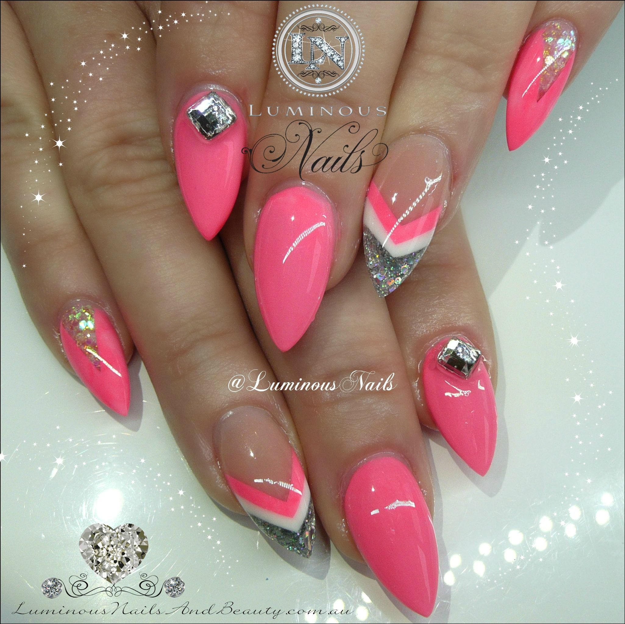 luminous-nails-beauty-gold-coast-queensland.-pink-white-silver
