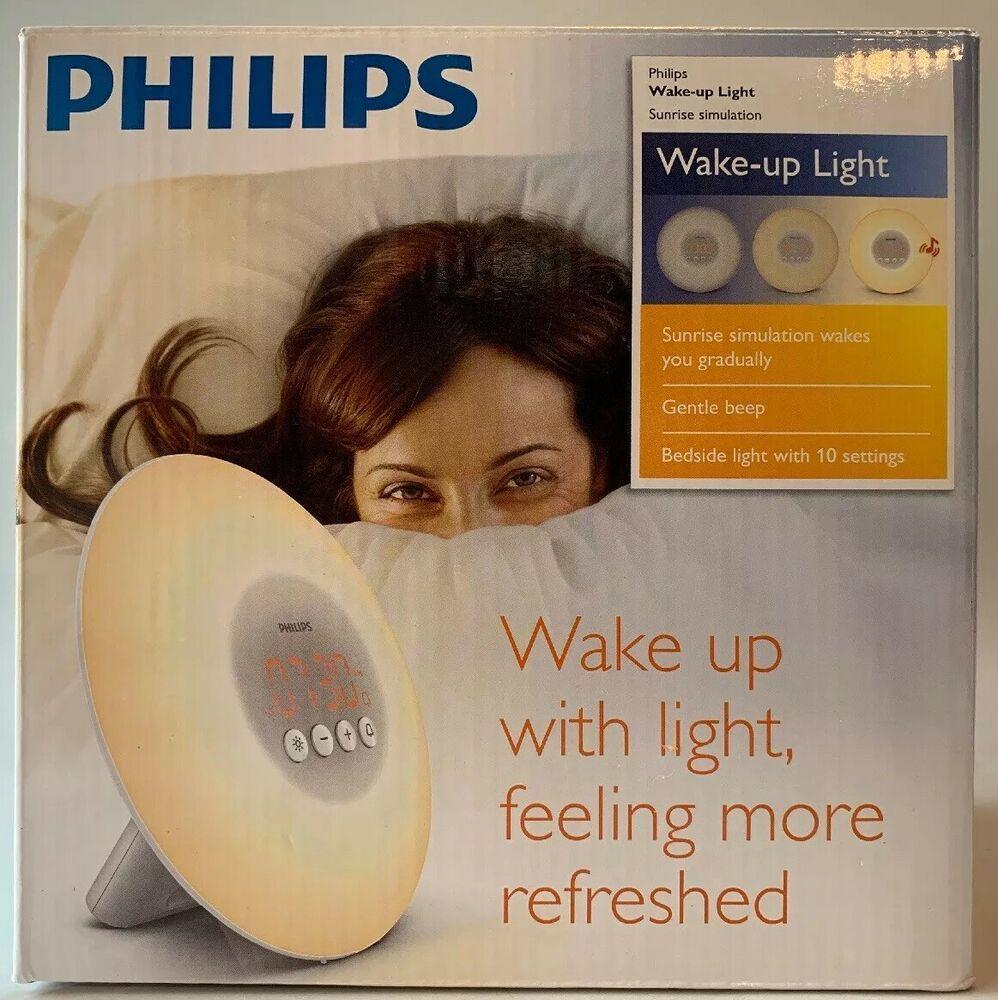Philips Wake-Up Light Alarm Clock with Sunrise Simulation White