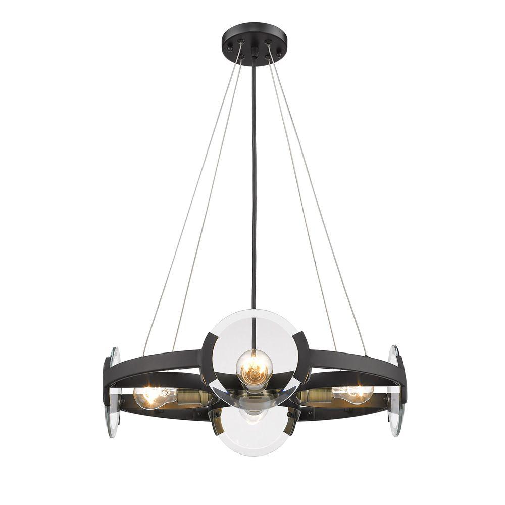 Golden Lighting S Amari Blk 4 Light Chandelier 2635 4 Blk Ab Golden Lighting Wagon Wheel Chandelier Round Chandelier