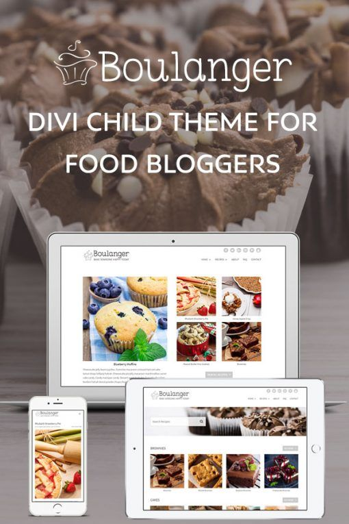 Food Blogger Wordpress Theme Comes With Many Page Templates Easy