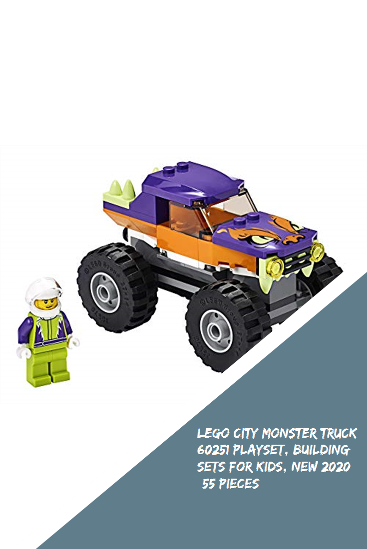 Lego City Monster Truck 60251 Playset Building Sets For Kids New 2020 55 Pieces Legoland In 2020 Building Sets For Kids Lego City Monster Trucks