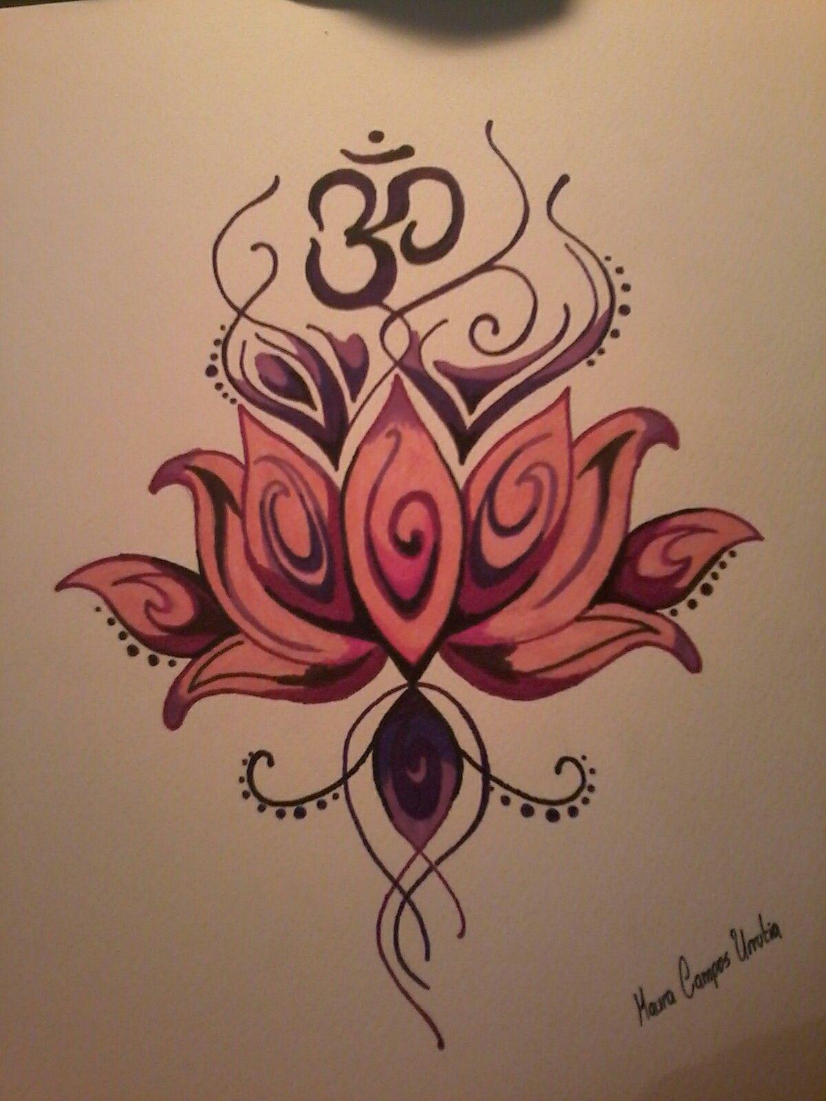 Om flor de loto u mis dibujos INK