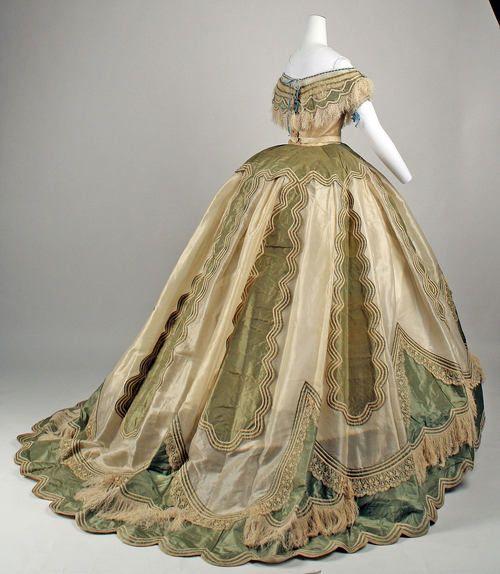 Evening dress ca. 1865 via The Costume Institute of The Metropolitan Museum of Art