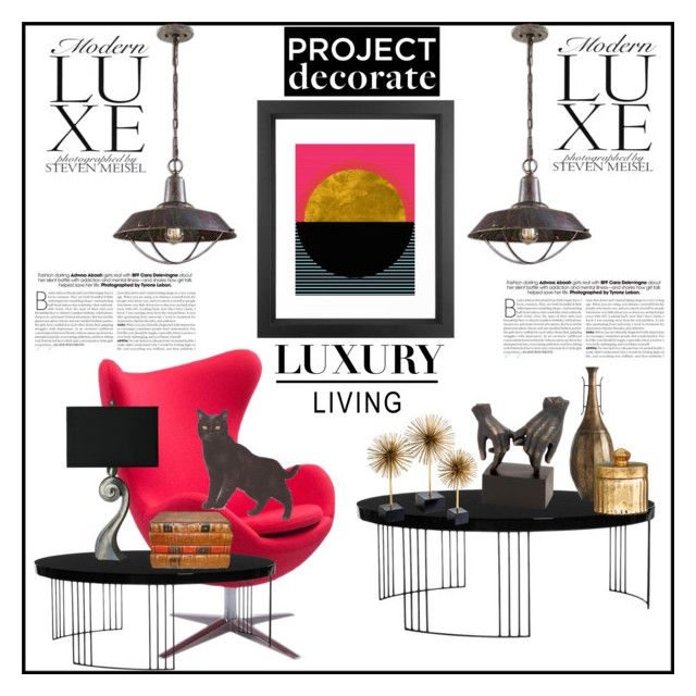 """""""Contemporary Lighting"""" by hastypudding ❤ liked on Polyvore featuring interior, interiors, interior design, home, home decor, interior decorating, Safavieh, Dot & Bo, Pier 1 Imports and H&M"""
