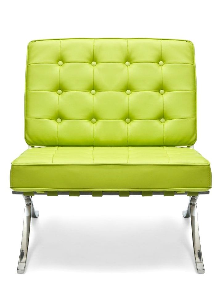 Barcelona Style Chair, In Lime Green Leather, Sharing Luxury Designer Home  Decor Inspirations And