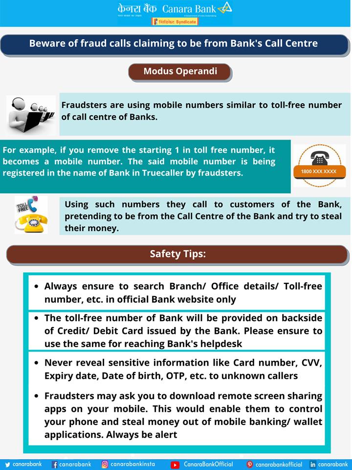 Fraud Calls Awareness Quotes Bank Safe Fraud